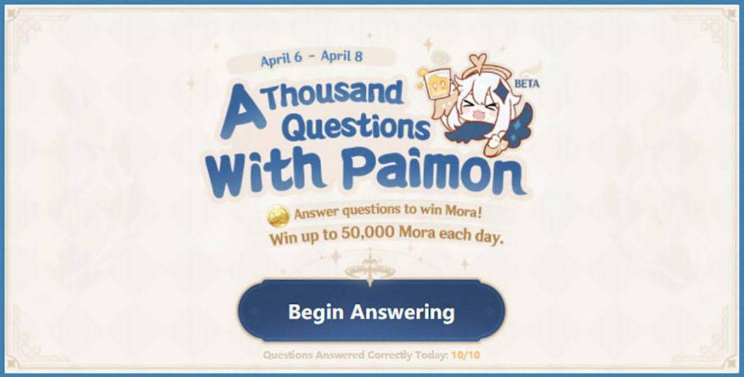 [Genshin Impact] A Thousand Question With Paimon (260+ Questions)